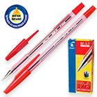 Ручка шариковая красная масляная Pilot BP-S-F 0.32 мм Корпус тонированный красный Наконечник металл